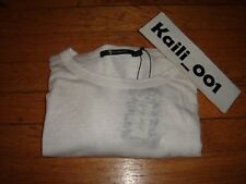 T By Alexander Wang Long Sleeve Tee Size Large White B