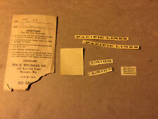 Walthers Union Pacific Passenger Decals  HO Scale