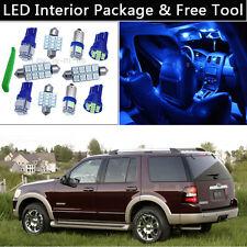 8PCS Bulbs Blue LED Interior Lights Package kit Fit 2002-2010 Ford Explorer J1