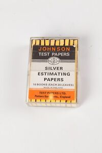 Vintage Johnson Silver Estimating Papers, 10 Books of 20 Sheets. For Fixer Tests