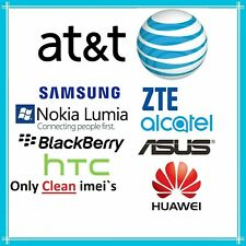 ATT UNLOCK CODE SERVICE FOR SAMSUNG LG HUAWEI ALCATEL IPHONE & ZTE