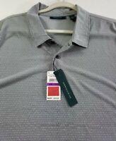 New Perry Ellis Men's Short Sleeve Polo Shirt XXL 2XL Gray Casual Polyester