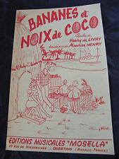 Partitur Bananen et Noix de Coco Maurice Henry Music -blatt 1958