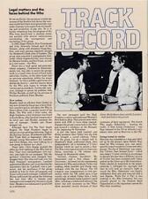 Who The Track Records & Kit Lambert Encyclopedia article