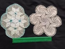 Antique Doilie Pair 1930s Art Deco Crochet