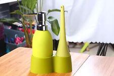 Green Kitchen Soap Detergent Dispenser + Scrub Brush + Holding Tray Combo Pack