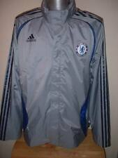 Chelsea Adidas Jacket Adult L Football Waterproof Shirt Jersey Hooded Training