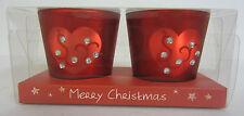 16323- 2 STRAITS Rojo Vela con pedrería detalles. £1.99!