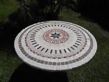 tavolo in marmo diam.cm 90 completo di piede
