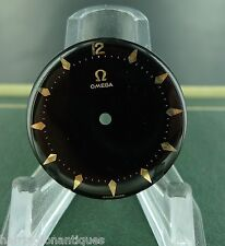 .RARE 1950S OMEGA BLACK GLOSS DIAL WITH POINTED PINK GOLD BATTONS CAL.470 N.O.S