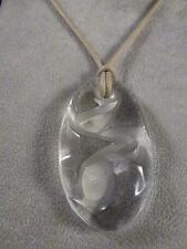 BNIB 100% Auth LALIQUE PENDANT Crystal CLEAR   Necklace  - $310 value!!