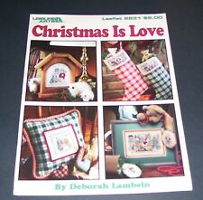 LEISURE ARTS COUNTED CROSS LEAFLET PATTERN BOOK 1996 CHRISTMAS IS LOVE #2831