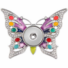 Noosa Snap Button Butterfly N02 2018 Hot Jewelry Brooch Fit 18mm