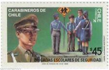 Chile 1988 #1325 Carabineros Police Brigadas Escolares MNH