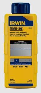 Irwin Strait-Line 8 oz Blue Mason Marking Line Chalk Permanent Water Resis 64901