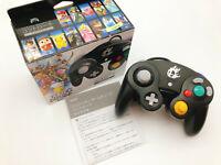 【Boxed】Nintendo Official GameCube controller Super Smash Bros. Black F/S #1201A