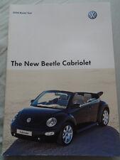 VW Beetle Cabriolet range brochure 2004 Model Year pub Jul 2003