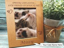 Personalised engraved photo frame cat memorial gift pet loss keepsake cat owner