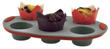 Molde Jata-h muffins y magdalenas 6 cavidades silicona platino antiadherente FLE