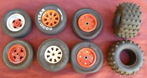 Old Vintage 1:8 Variety Wheels and Tyres Tires Lot.
