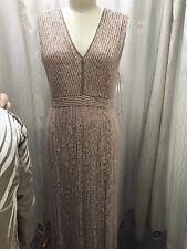 Jenny Packham blush beaded gown size UK 18/ US 14