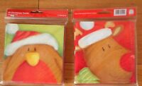 10 x Christmas Cards , 2 designs per pack (5 cards of each) with red envelopes