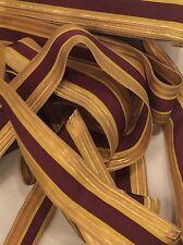 BORTE LITZE TRESSE TEILWEISE GOLD -TEILWEISE ANGEDUNKELT-