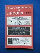 Kelly's Tradefinder of Lincoln  1972  - Local shop Directory