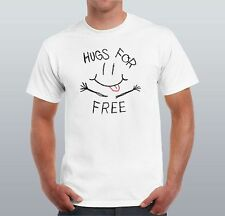 Hugs For Free Men T-shirt Friends Gift For Him Smile Hugging Day Funny Party Top