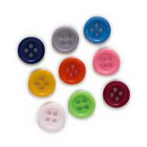 100pcs Mix Resin buttons for Sewing Scrapbooking Clothing Handmade Decor 10-15mm