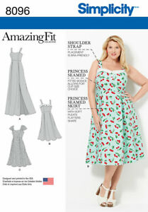 Simplicity Sewing Pattern 8096 Misses' Amazing Fit Dress Size 26W-32W