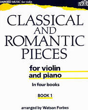 Classical and Romantic Pieces arr Watson Forbes vol 1 partition violon et piano