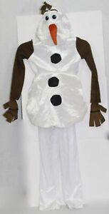 Frozen Olaf Snowman Deluxe Jumpsuit Costume Size Youth Large 4-6 Disney Disguise