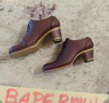 (USA) HOT TOYS BRUCE LEE M ICON BUSINESS High Heel MIS11 1/6 Feet SHOES NEW Peg