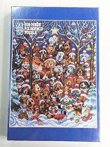 Vintage F.X. Schmid 92207 - SANTA PAWS 500 Piece Puzzle, Dogs Christmas 1994 NEW