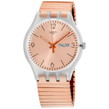Swatch Originals Rostfrei Rose Gold Dial Stainless Steel Unisex Watch SUOK707A
