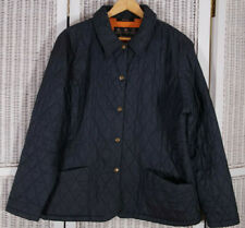 BARBOUR Women's Shaped F/Weight Quilt Short Jacket UK18 L Blue Lightweight Coat
