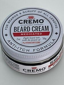Cremo Beard Cream Medicated Beard Formula, 2 Oz For Beards & Scruff Anti Itch