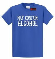 May Contain Alcohol T Shirt Funny Party Drink St Pattys Bar Beer Tee Shirt