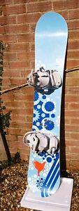 Rome Vinyl woman Snowboard 155cm with Medium bindings Salomon Relay 5-9UK