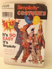 Simplicity Costumes #0698 Clown Suit Patterns Uncut And Factory Folded