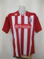 5+/5 Stoke City 2010/2011 home Sz XL Adidas football shirt soccer jersey maillot