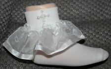 New Baby Toddler Christening Baptism Wedding Special Occasion Pearl Cross Socks