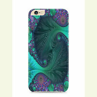 Abstract Fractal Curves Ocean Cyclones Blue Green Waves Phone Case Cover