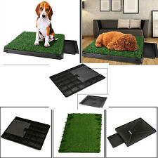 Dog Puppy Toilet Mat Indoor Outdoor Training Grass Pad Loo Tray 63x50x7 cm