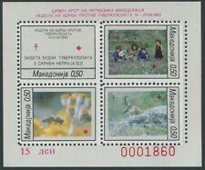 MAKEDONIEN / Block MiNr. 9 A / Rotes Kreuz / Zwangszuschlagsmarke / Postfrisch