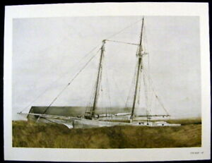 Andrew Wyeth Gravure Print THE SLIP & STORM AT SEA, Maine