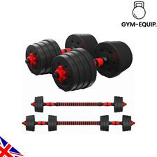30Kg Adjustable Dumbbells / Barbell Weights Set Home Fitness Gym