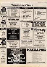 Manfred Mann's Earthband Fruupp Batti Mamzelle Chilli Willi MM4 show Advert 1974