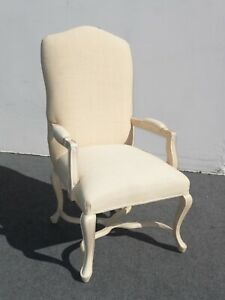 Vintage Kreiss Collection French Country White Accent Arm Chair